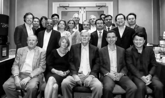Pat McGovern pictured in the front row center with the IDG team